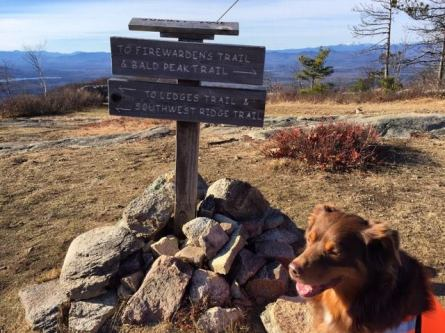 Summit of Pleasant Mountain with Pua